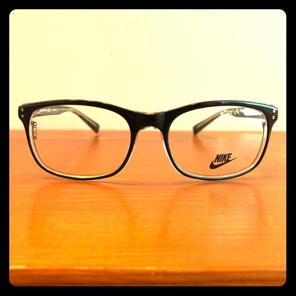 Nike Men's Black Wayfarer Full Rim Eyeglass Frames